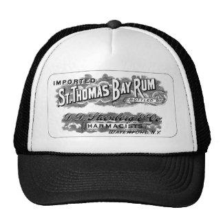 Vintage St. Thomas Bay Rum Advertising Logo Label Cap