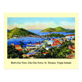 Vintage St. Thomas Virgin Islands Postcard