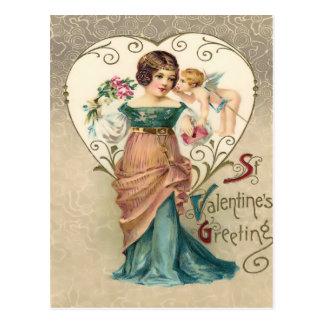 Vintage St. Valentine Greeting Postcard