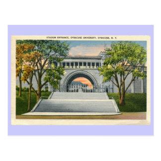Vintage Stadium Entrance Syracuse University Postcard