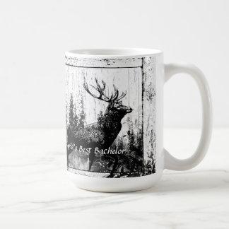 Vintage Stag Deer World's Best Dad, Father Coffee Mug