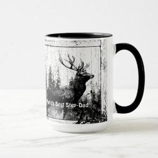 Vintage Stag Deer World's Best Step-Dad Mug