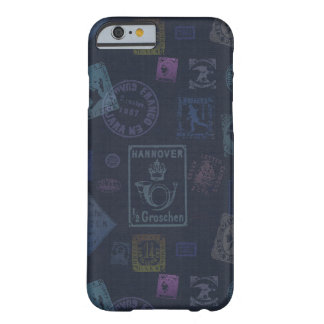 Vintage Stamp Art Case - Dark Barely There iPhone 6 Case