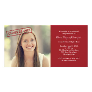 Vintage Stamp Graduation Announcement/ Invitation Personalized Photo Card