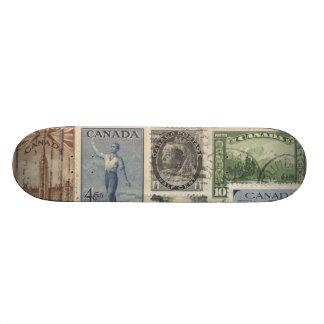 Vintage stamps - 18.1 cm old school skateboard deck