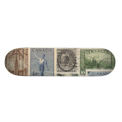Vintage stamps - skateboard decks