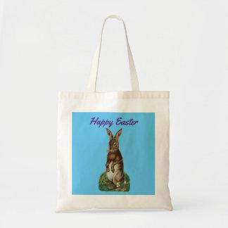 Vintage Standing Bunny Tote Bag