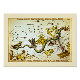 Vintage Star Map - Constellation Atlas Poster