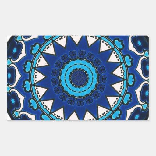 Vintage star motif  Ottoman Turkish tile design Rectangle Stickers