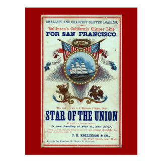 Vintage Star of Union Advertisement Postcard