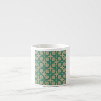 Vintage star pattern espresso cup