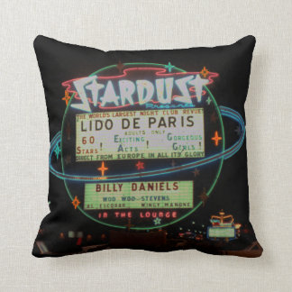 Vintage Stardust Casino Las Vegas Neon Sign 1950's Throw Pillow
