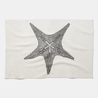 Vintage Starfish Antique Star Fish Template Tea Towel