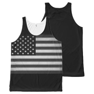 Vintage Stars and Stripes All-Over Print Singlet