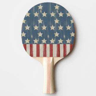 Vintage Stars and Stripes Ping Pong Paddle