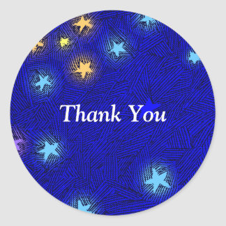 Vintage Stars Etching Thank You Sticker