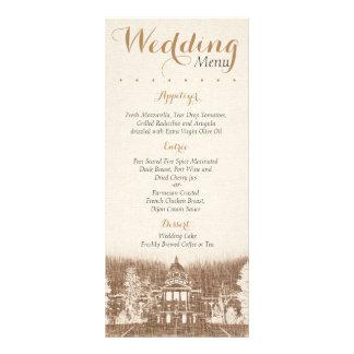 Vintage State Capitol Pride Wedding Menu Rack Card Template