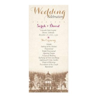 Vintage State Capitol Pride Wedding Program Personalised Rack Card