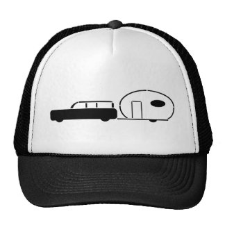 Vintage Station Wagon and RV Trailer Hat