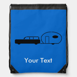 Vintage Station Wagon and RV Trailer Personalized Backpacks