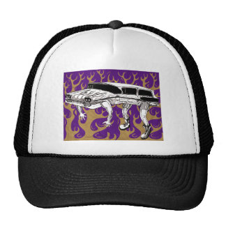 Vintage Station Wagon Purple And Yellow Flames Cap
