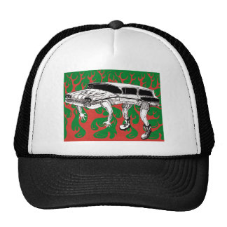 Vintage Station Wagon Red and Green Flames Cap