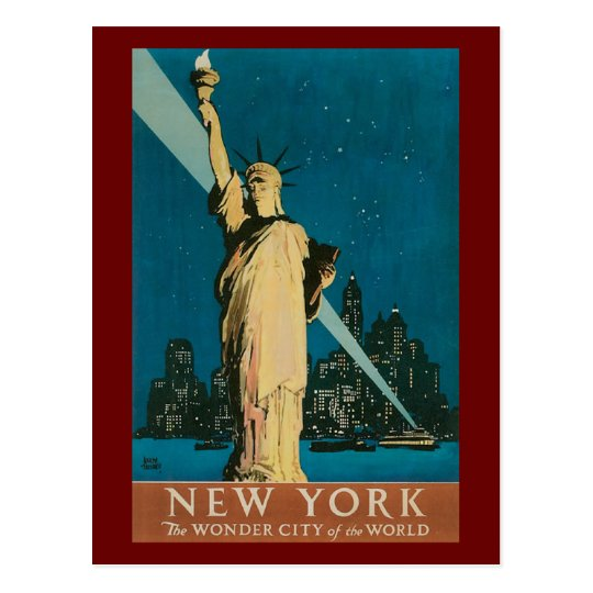 Vintage Statue of Liberty Postcard