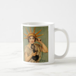 Vintage Statue of Liberty, WWI Patriotic War Ad Coffee Mug