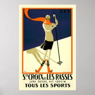 Vintage Ste. Croix Travel Poster