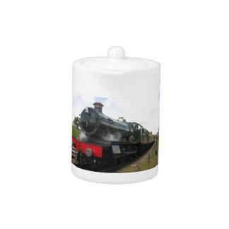 Vintage steam engine, old railway train