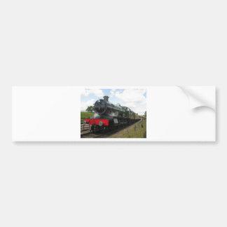 Vintage steam engine, old railway train bumper sticker