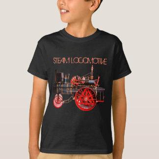 VINTAGE STEAM LOCOMOTIVE Red Black T-Shirt