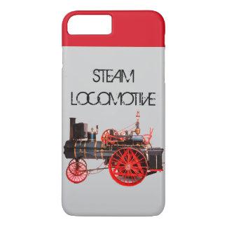 VINTAGE STEAM LOCOMOTIVE Red Grey iPhone 8 Plus/7 Plus Case