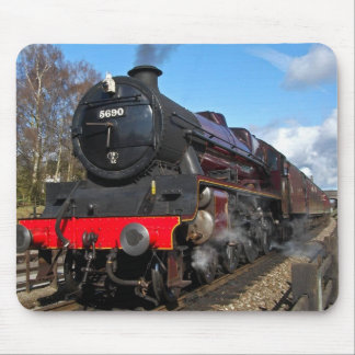Vintage steam train mouse pad