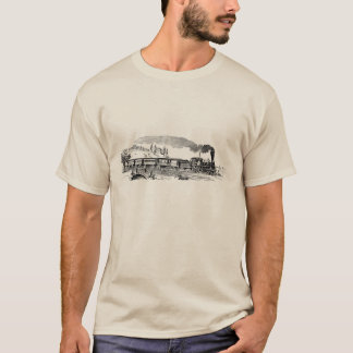 Vintage Steam train sketch mens t-shirt