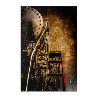 Vintage Steam Train - Welcome To The Bridge Acrylic Print