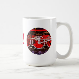 Vintage Steam Train Wheels Coffee Mug