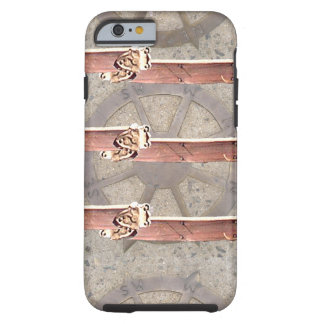 Vintage Steampunk Compass Leather CricketDiane Tough iPhone 6 Case