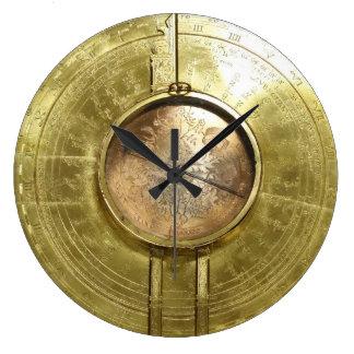 "Vintage Steampunk ""Drafting Compass"" Wall Clock"