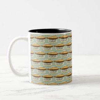 Vintage Steampunk Flying Machine Two-Tone Coffee Mug