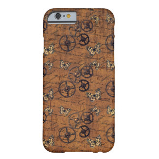 Vintage Steampunk Gears Wallpaper Barely There iPhone 6 Case
