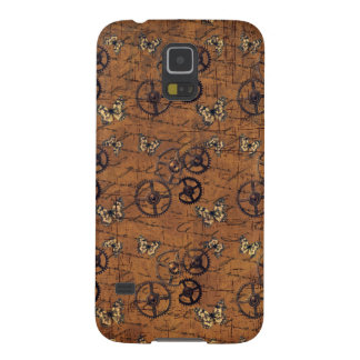 Vintage Steampunk Gears Wallpaper Galaxy S5 Cover