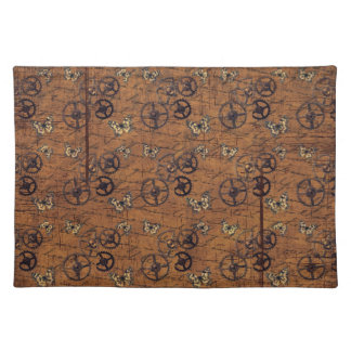 Vintage Steampunk Gears Wallpaper Placemat