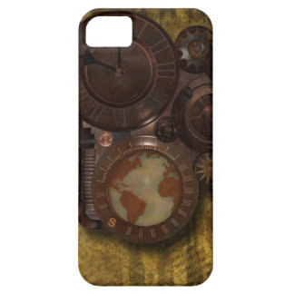 Vintage SteamPunk Globe Clock iPhone 5 Cover