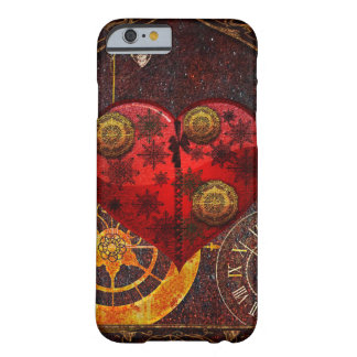 Vintage Steampunk Hearts Wallpaper Barely There iPhone 6 Case