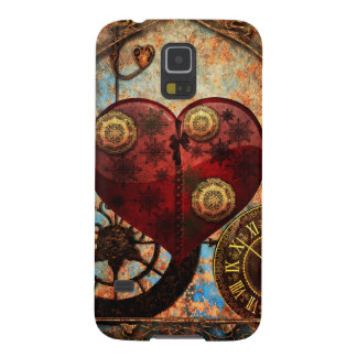 Vintage Steampunk Hearts Wallpaper Cases For Galaxy S5