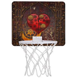 Vintage Steampunk Hearts Wallpaper Mini Basketball Hoop