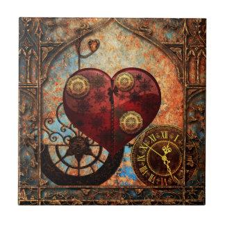 Vintage Steampunk Hearts Wallpaper Tile