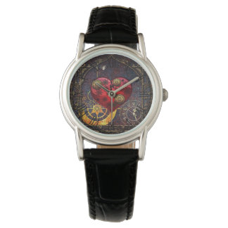 Vintage Steampunk Hearts Wallpaper Watch