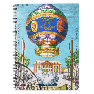 Vintage Steampunk Hot Air Balloon Notebook